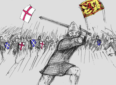 Scots armies fought alongside the English on the continent