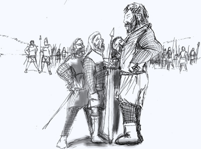 Sir William Wallace, Guardian of Scotland, stood head and shoulders taller than the average man